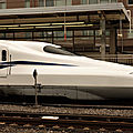 Shinkansen N700S 'test run' at Odawara station