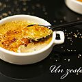 Un zeste de... crème brûlée au foie gras
