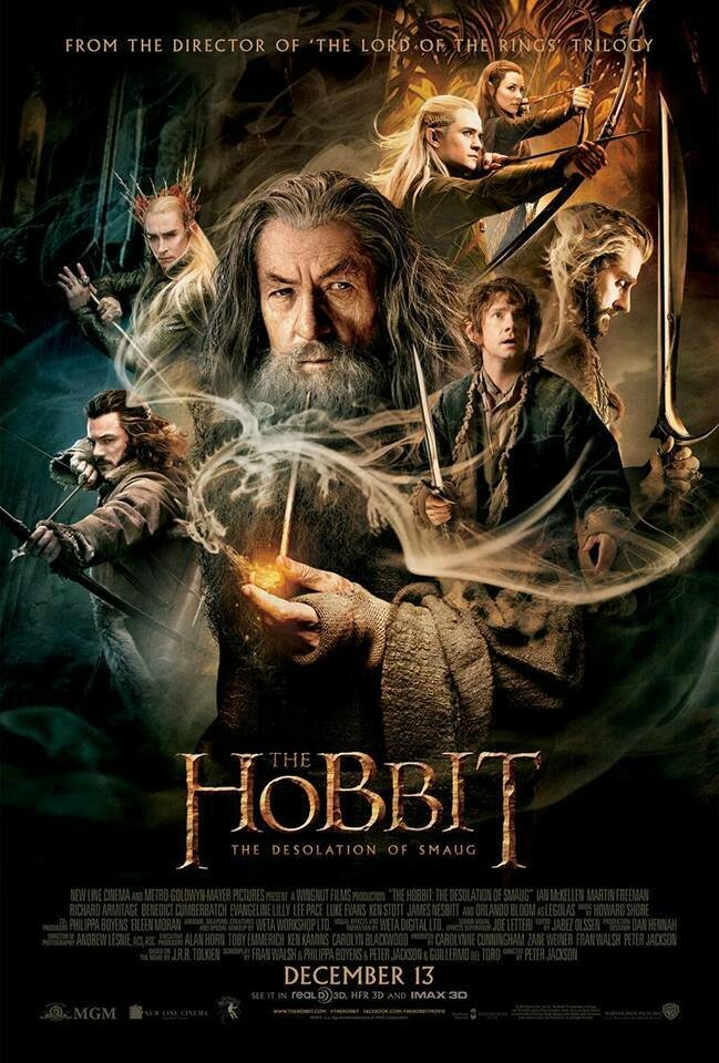 The Hobbit Desolation of Smaug movie poster