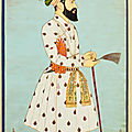 A large portrait of emperor alamgir (aurangzeb) at the age of sixty, india, deccan, probably golconda, circa 1700