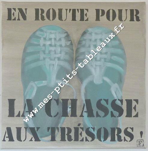 Les sandales en route Coloris jade