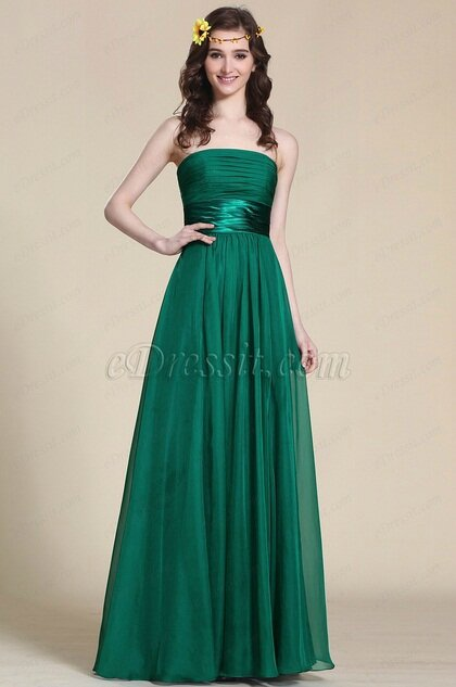 5df9b71e8cf Robe demoiselle d honneur longue verte émeraude - Photo de Robes ...
