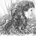 La jeune femme aux cheveux noirs