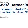 André darmanin exposition + 2 ateliers arts plastiques adultes