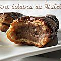 Mini - eclairs au nutella