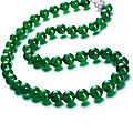 A highly important jadeite bead and diamond necklace