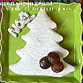 La bûche de noël aux marrons glacés...revisitée façon macaron sapin géant !