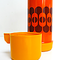 Vintage ... bouteille thermos spania * orange
