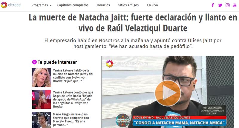 2019-03-22 20_47_28-La muerte de Natacha Jaitt_ fuerte declaración y llanto en vivo de Raúl Velaztiq