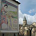 La Bourboule, affiche et église (63)