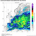 european lightning density foudre en europe