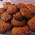 cookies bananes et pepites de chocolat