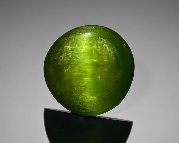 Exceptionally Rare Cat's Eye Demantoid Garnet, Kerman Province, Iran
