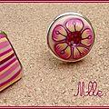 Série de bagues rose