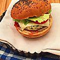 Burger de poulet à la ciboulette et mozzarella