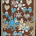 38. kraft, chocolat, vanille et bleu - imprim� hivernal