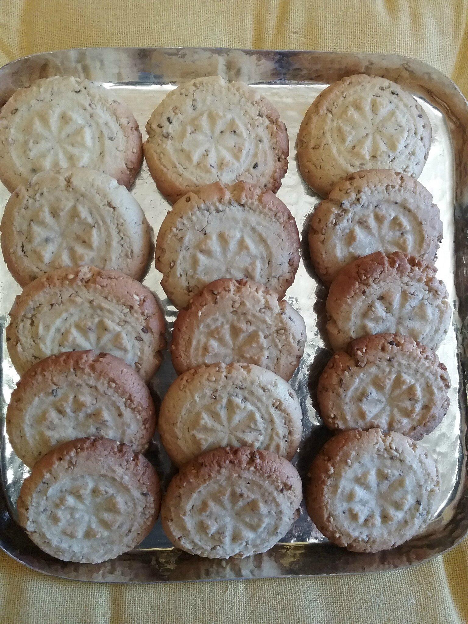 Biscuits à la crème de sésame ( Tahiné ) 042