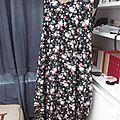 Robe HENRIETTE en popeline de coton noir fleur (3)