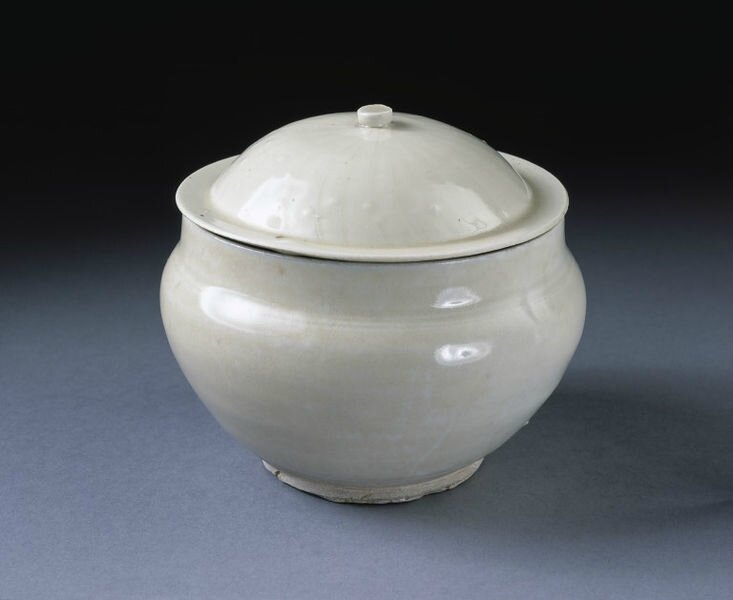 Jar and lid, Ding ware, China, Northern Song dynasty, 1000-1150