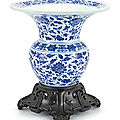 A large blue and white zhadou, qing dynasty, 18th century