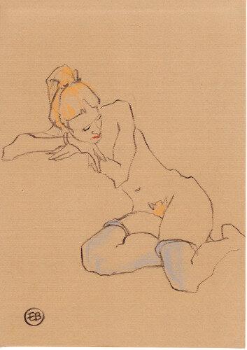#croquisdenu modele vivant living model Etienne Bonnet Croquis nu dessin peinture Golden Blog Awards nude drawing sketch B MDS00133