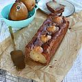 Cake crème de marrons-poire angélys {recette} #aplv #vegetarien #vegan #sansoeufs #sanslactose