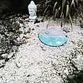 Décoration de jardin ying/yang