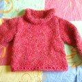 un pull pour la fille d'une amie, taille 6 ans de Phildar