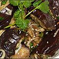 Aubergines à la vapeur, sésame et oignons verts de ottolenghi
