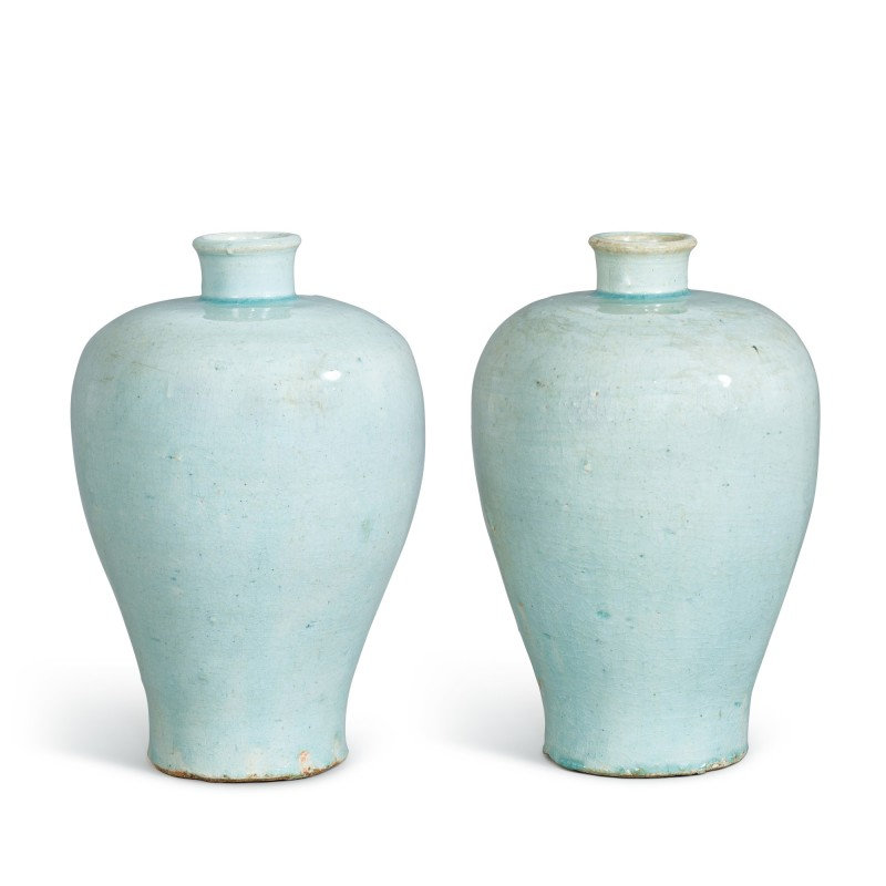 A pair of Qingbai meiping, Southern Song dynasty (1127-1279)