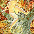 Nue dans l'arbre digital