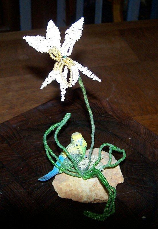 orchidée en perle