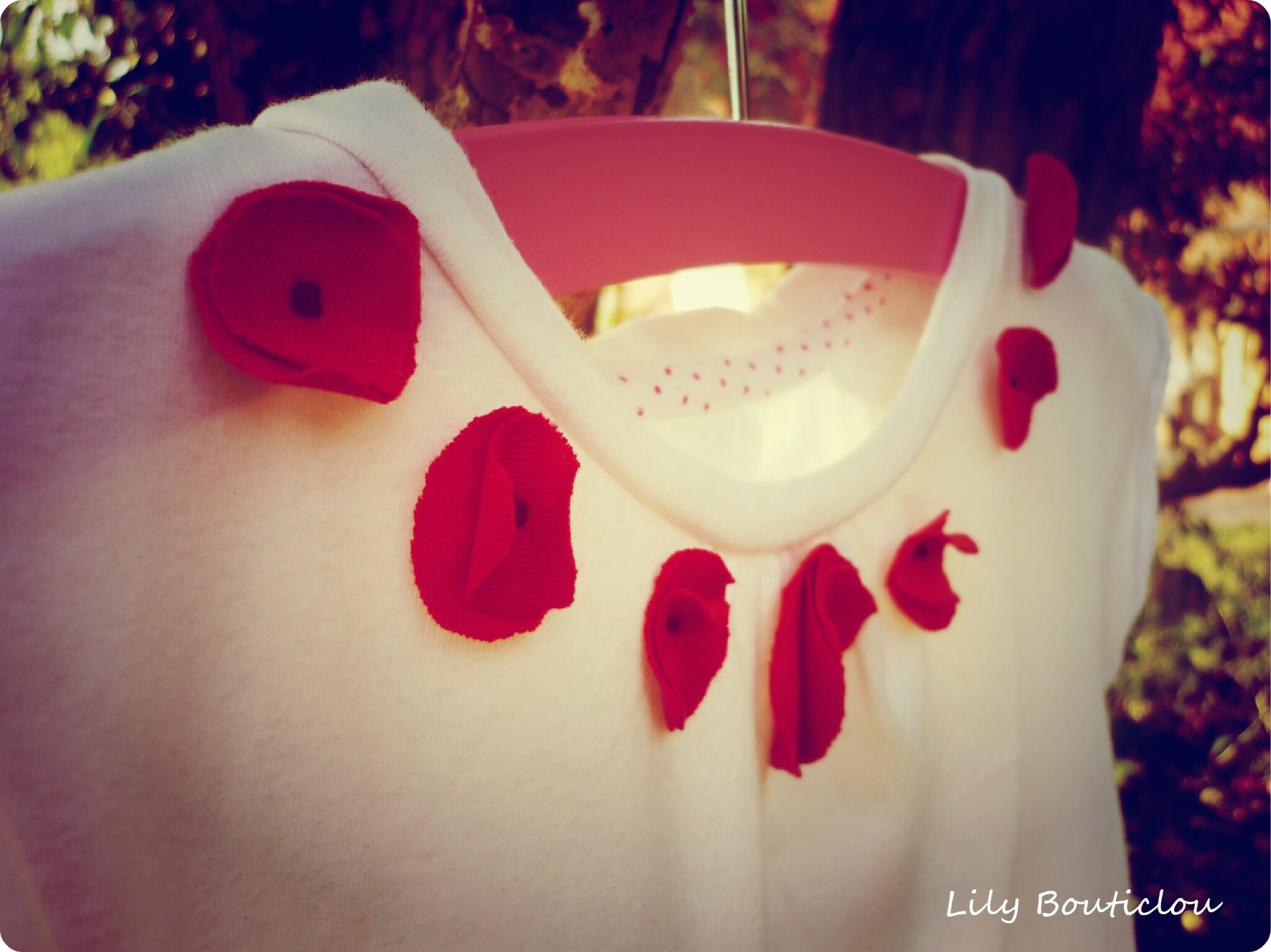 tee shirt coquelicots diy lilybouticlou