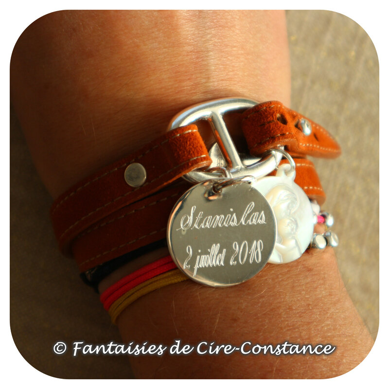 Belle Ile daim caramel médaille 25 mm ig