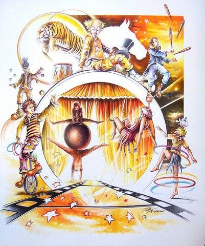 illustration circus Circospectives 2008
