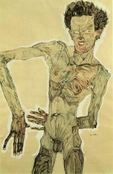 Egon Schiele-autoportrait (1910)