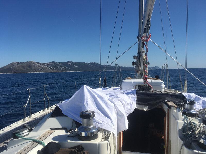 La côte sud-ouest de Dugi Otok, de Vela Luka au sud de l'île, lundi 16 mars 2020