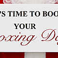 Save the date : book your boxing day