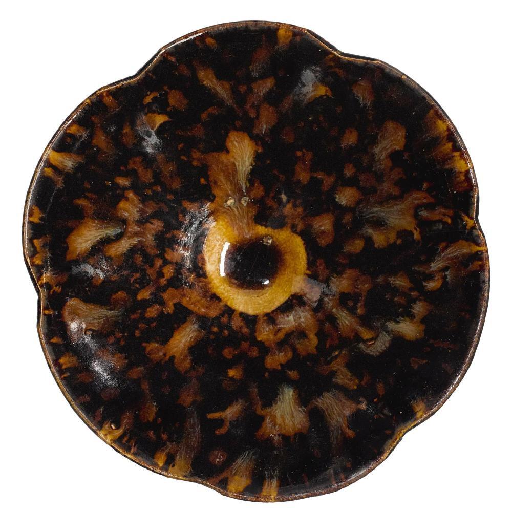 A 'Jizhou' 'tortoiseshell' lobed bowl, 13th century