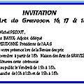 Participation a l'exposition de graveson (13) les 16 17 18 novembre 2018 - participation at the art exhibition in graveson