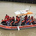 Exercice de sauvetage sur l'estuaire