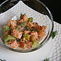tartare de saumon exotique