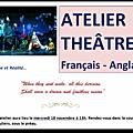 Ouverture d'un atelier théâtre bilingue