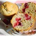 Gouter gourmand de rentrée : des muffins framboises ... il fallait bien ça !