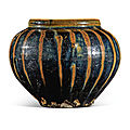 A russet-painted black-glazed jar, northern song-jin dynasty (960-1234)
