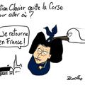 Christian clavier, villa corse, vente et exile alsacien ?