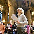 Isabelle Hannicaut lit une méditation sur la Transfiguration