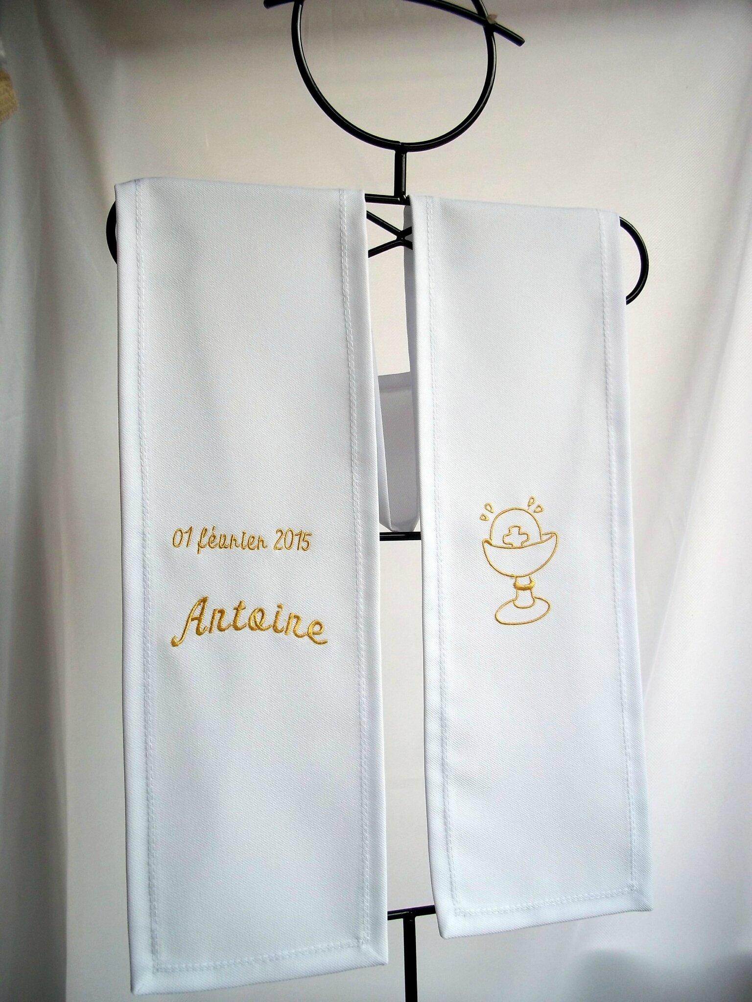 echarpe de communion polyester personnalisée par amd a coudre (4)
