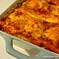 Lasagnes chèvre épinards light