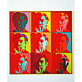 Andy warhol au musée d'art moderne - paris - france